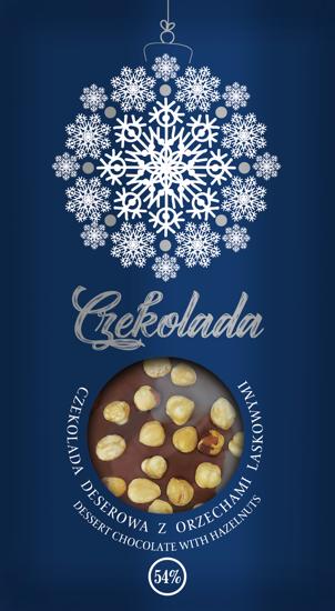 Świąteczna czekolada deserowa z orzechami